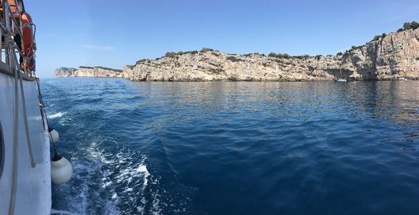 Boat sailing around Kornati national park