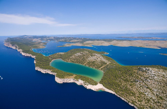 Telascica nature park from the air